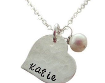 Sweetheart name necklace with charm