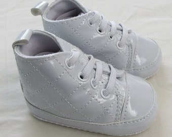 Free Shipping Baptism Christening  Wedding Gown Baby Boy/Girl Gown White/leather Silver Soft Shoes