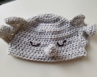 Sleey Elephant Baby Hat