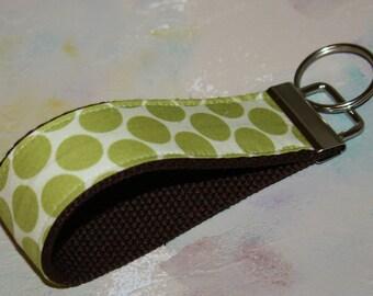 Wrist Key Chain - Key Fob Wristlet Keychain - Green Apple