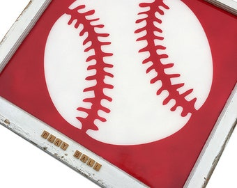 Play Ball Sign | Baseball Sign | Baseball wall art | Unique Wall Art