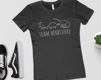 Team Herbivore - Women's T-Shirt - Shirt/Top/Tee - Vegan Shirt/Veggie/Vegetarian/Vegan/Vegan Gift/Herbivore Shirt/Dinosaur Shirt/Dino