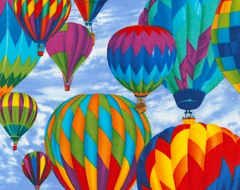 Timeless Treasures - Hot Air  Balloons - C5444-Sky - Michael Searle - Summer - Novety - Balloons - Travel - Fly - One More Yard