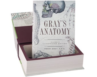 Large Hollow Book Safe - Gray's Anatomy by Henry Gray (Magnetic Closure)
