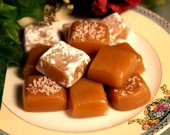 Handmade Creamy  Vanilla or  Snow or  Fleur de sel  Caramels Your Choice to Enjoy