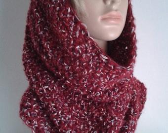 Scarf tube XL, large collar, snood XL, hooded scarf