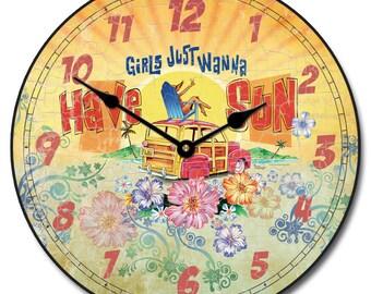 Girls Wanna Sun Wall Clock