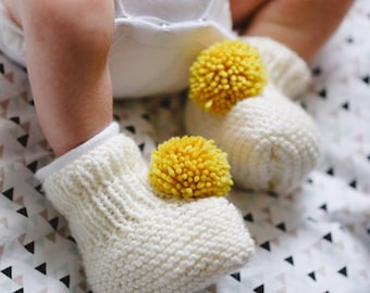 Baby knitting wool slippers