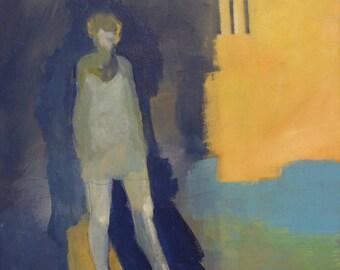 Blue Girl Silhouette