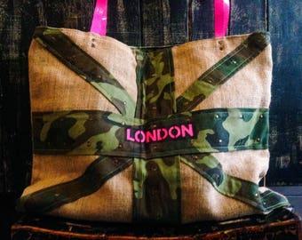 Reversible bag camo London