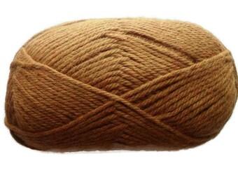 SALE Organic Cotton Yarn - Brass Gold - Worsted Weight - Eco Yarn - Veganic Yarn - Organic Textiles - Soft Baby Yarn - Hypoallergenic Yarn