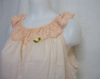 Long Cotton Nightgown Summer Nightgown Old Fashioned Medium