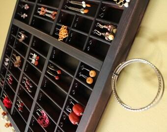 Espresso Printer Drawer Jewelry Display by Bluebirdheaven
