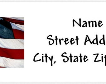 American Flag Personalized Return Address Labels Buy 3 Get 1 Free