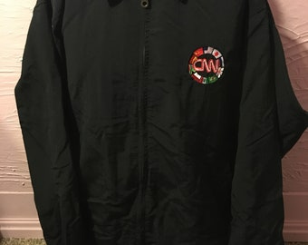Rare CNN International Logo Full Zip Windbreaker Jacket L