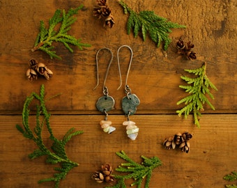 dangle earrings/silver earrings/rustic earrings