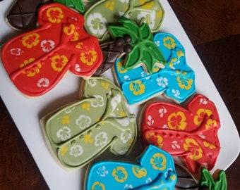 Hawaiian Shirt Sugar cookies