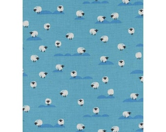 NEW!! - Cotton Fabric by the Yard - Fat Quarter Bundle - Quilt Fabric Bundle - Cotton + Steel - C5169-004 Panorama - Sheep - Water