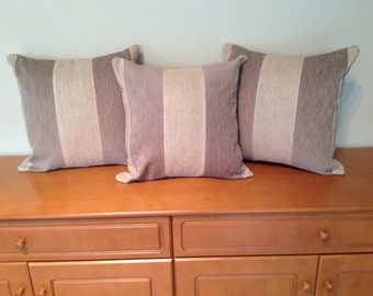 Two toned brown cushion
