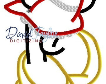Headless Minnie - 4x4, 5x7, 6x10 and 7x11 in 9 formats - Applique - Instant Download - David Taylor Digitizing