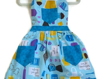 Kitchen Utensil Apron, Children Apron, Toddler Apron, Girl Apron, Baking Apron, Cooking Apron, Kid Apron, Little Girls Apron, Retro Apron