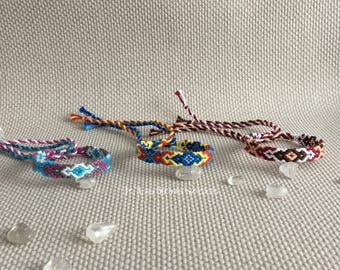 Colorful friendship-bracelets, macrame, hippie, gypsy, boho
