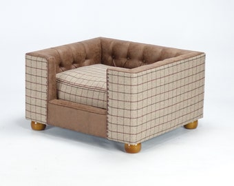 Luxury dog bed chesterfield made by The Fabulous Dog Bed Company