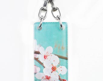 Enjoying Life's Blossoms Necklace, Opens so that you can customize your necklace to hold your fortunes, inspirations & dreams