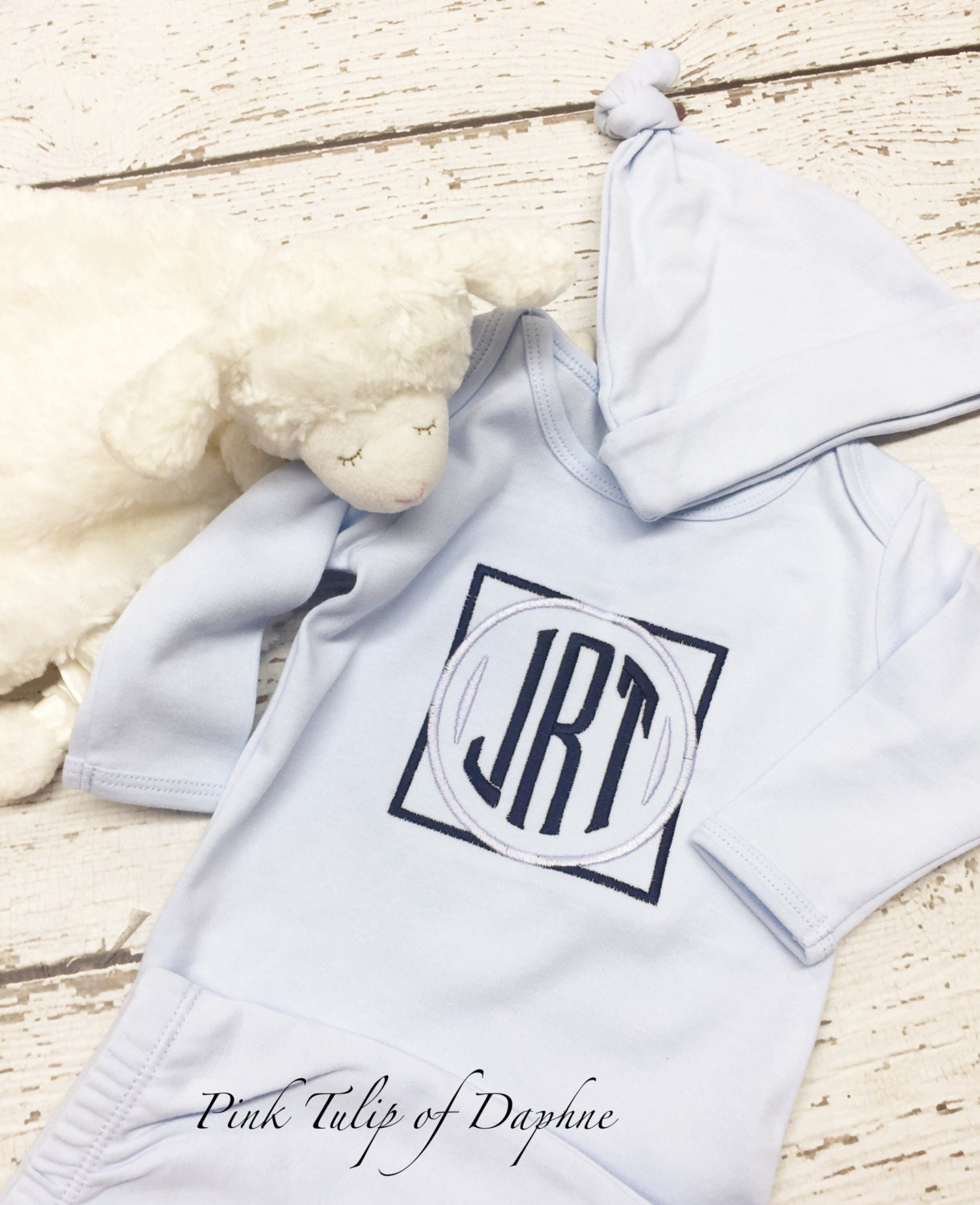 Infant boy gown, newborn gown, Baby Boy Monogrammed Infant Gown ...