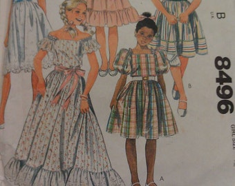 McCall's Pattern no. 8496 Girl Size 12