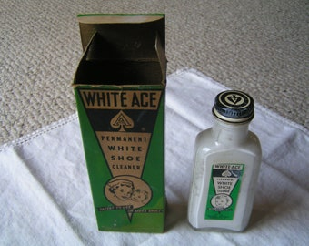 Vintage Ace Permanent White Shoe Cleaner/Polish---From the 1950's