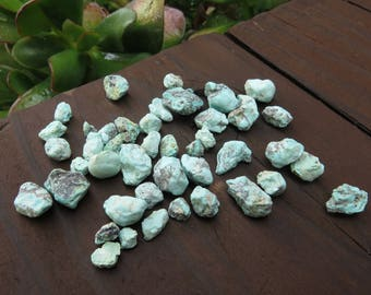Natural Chalk Turquoise Nuggets (20 Grams) (NS615)