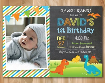 Printable Dinosaur Invitation Dinosaur Birthday Invitation