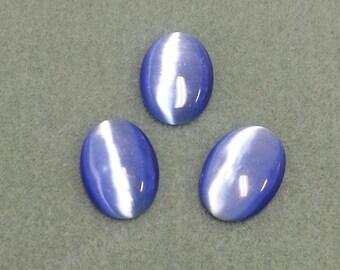 Blue Fiber Optic Catseye Cabochon 25 x 18 - FOBL2518