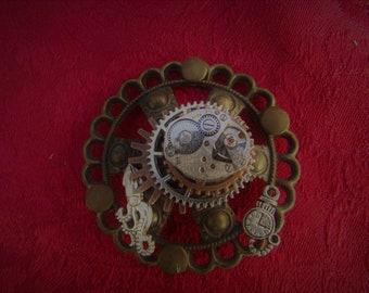 Clockwork Squid Brooch