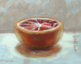 Grapefruit Original Still Life Oil Painting by Max Oliver