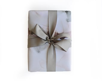 Pink Grey Gift Wrap - 3 Single Sheets