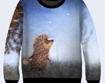 Hedgehog Christmas Jumper.Hedgehog Christmas Jumper Libridacqua