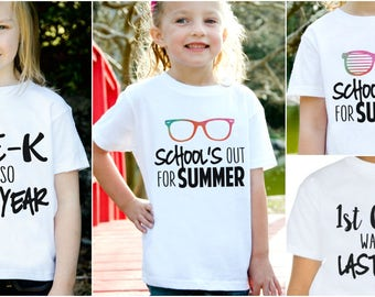 School's Out Summer Shirts for Kids!