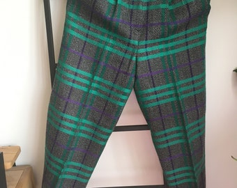 Vintage wool chequered trousers