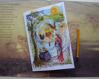 A5 Notebook, Cerridwen's Spell, workbook, Journal, Taliesin, Awen, Celtic, Ceridwen,Hare, Inspiration, Welsh Goddess, Cerridwens Cauldron
