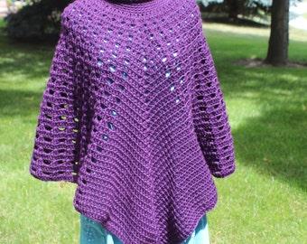 Turtleneck Poncho Pattern, Crochet Poncho Pattern, Boho Poncho Pattern, Poncho Pattern, Instant Download
