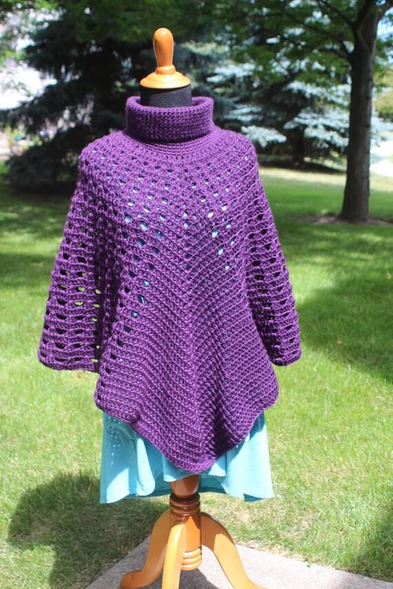 Turtleneck Poncho Pattern Crochet Poncho Pattern Boho Poncho