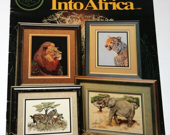 Into Africa Cross Stitch Pattern Book 1993 Cross My Heart