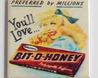 Bit O Honey Candy Sign Fridge Magnet