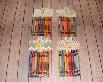 Tinkerbell Made To Order Crayon Favor Bags