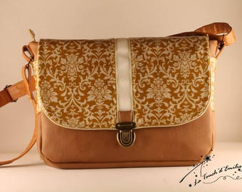 "Bag ""Middle"" Baroque Ochre yellow La Touch' Emily"