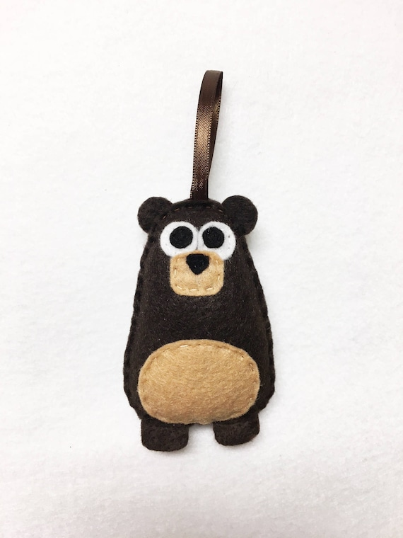 Bear Ornament, Christmas Ornament, Benny the Bear, Felt Ornament, Forest Animal, Woodland Decoration