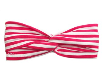 Headband Red Stripe, Pretty Hair Band, Twist Hairbands, Stretchy Turban Headband, Boho Headbands, Yoga Headband, Running Hairband