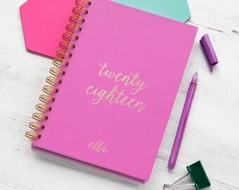 A5 2018 Custom Diary - 2018 Planner - 2018 Weekly Planner - Custom Planner - 2018 Diary - A5 Planner - Personalised Planner - 2018 Agenda